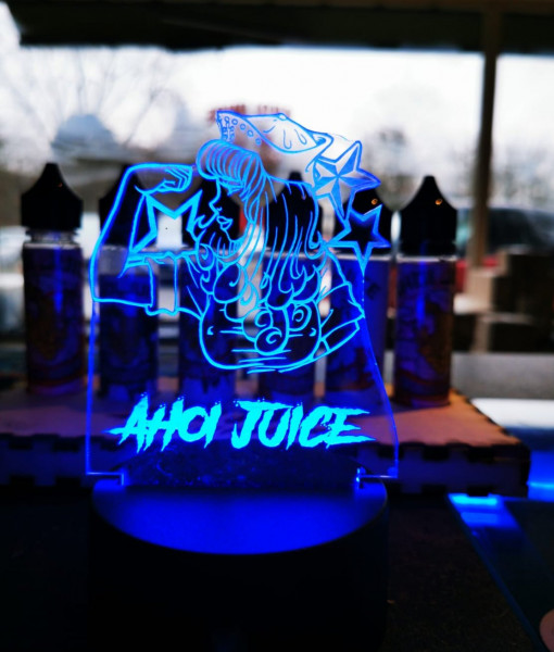 "LED Acrylschild Ahoi Juice ""Dein Name"""